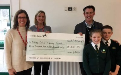 Cheque Presented For Record Breaking Christmas Bazaar At Walton-on-Thames School