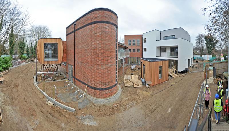 New Family Pod build at Woking & Sam Beare Hospice thanks to £100,000 sponsorship from SC Johnson