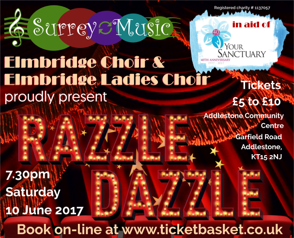 Elmbridge Ladies Choir in Concert - WIll be singing at Addlestone Community Centre Runnymede