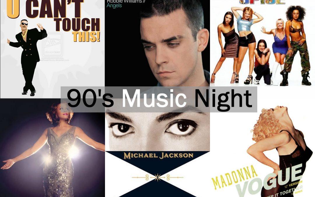 90s Music Night at Red Bar & Restaurant Weybridge Surrey