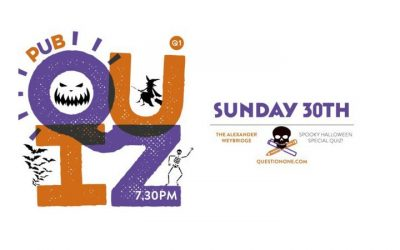 Halloween Quiz Night in Weybridge at the Alexander Pub