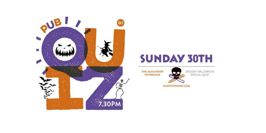 Halloween Quiz Night in Weybridge at the Alexander Pub