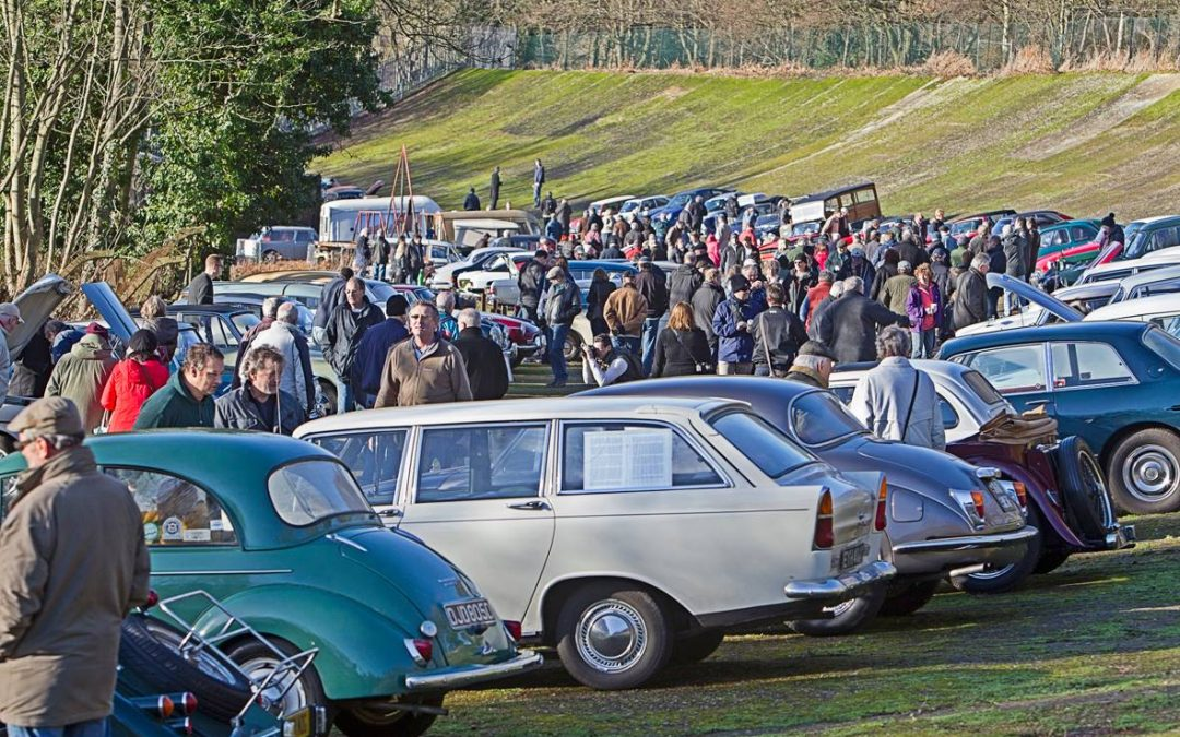 New Year's Day Classic Cars Gathering at Brooklands Museum Weybridge Surrey