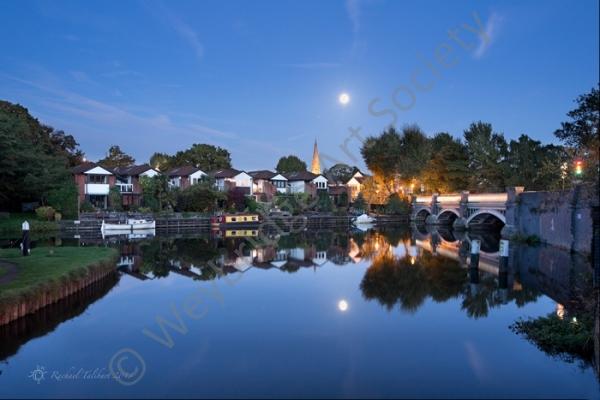 Moonrise Over Weybridge - Photography by Weybridge Society Member Rachael Talibart