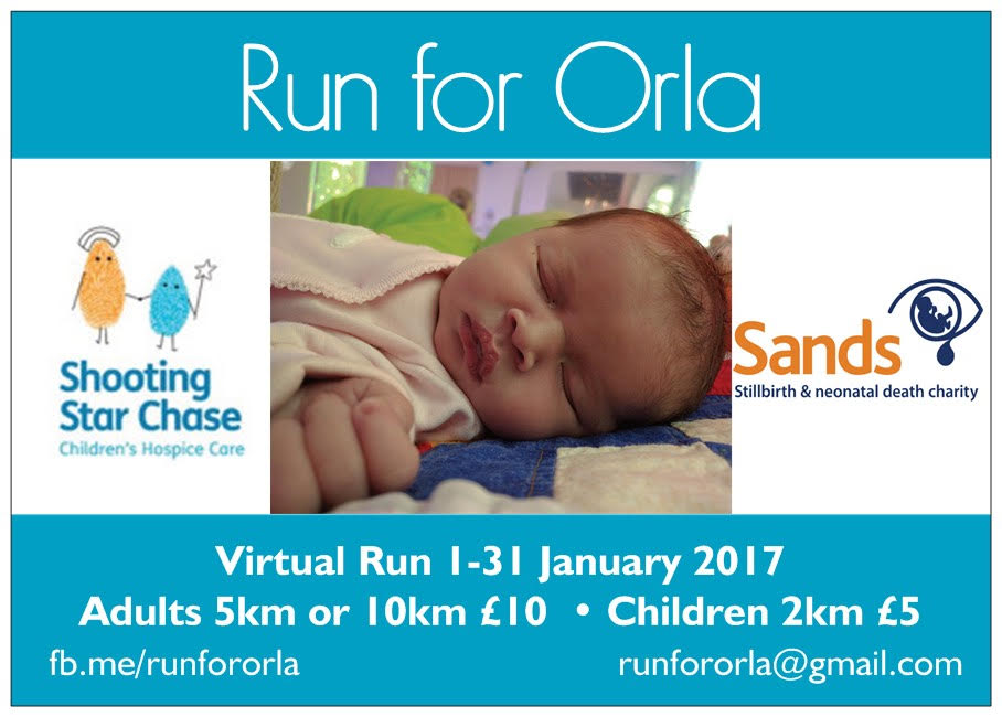 Run For Orla – Charity Run for Adults & Children – Raising Funds for Shooting Star Chase Children's Hospice and Sands