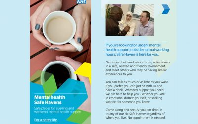 NHS Mental Health Safe Havens in Surrey – open evenings, weekends & bank holidays – designed to give adults a safe alternative to A&E when in crisis