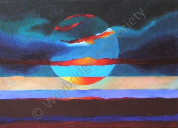 Just before Sunset - Painting by Weybridge Art Society Member Beverley Gibsone