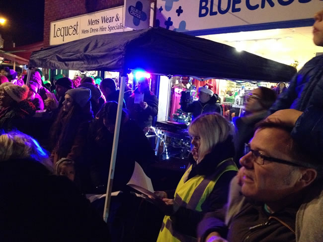 Carol Singing at Weybridge Town Christmas Tree Light event
