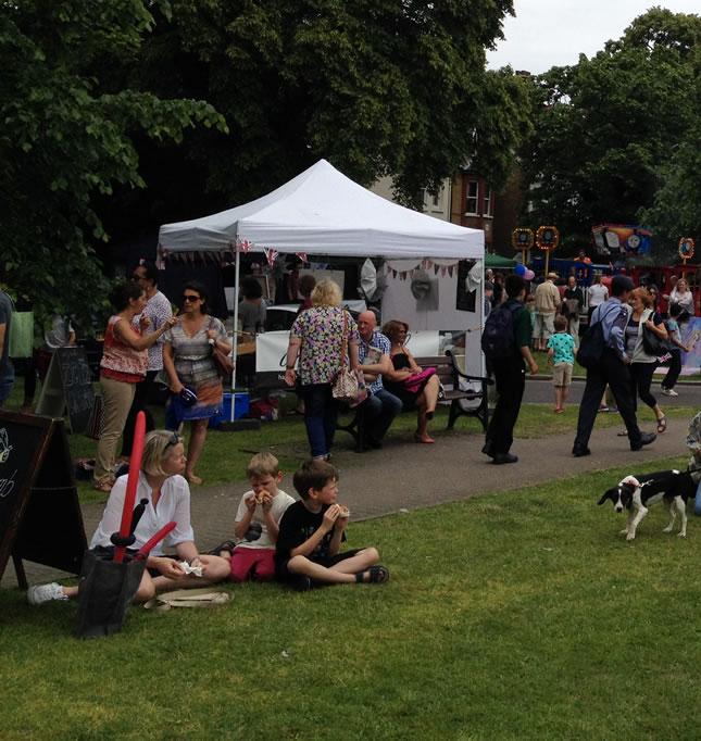 Weybridge Town Business Group Summer Market Event on Weybridge Green