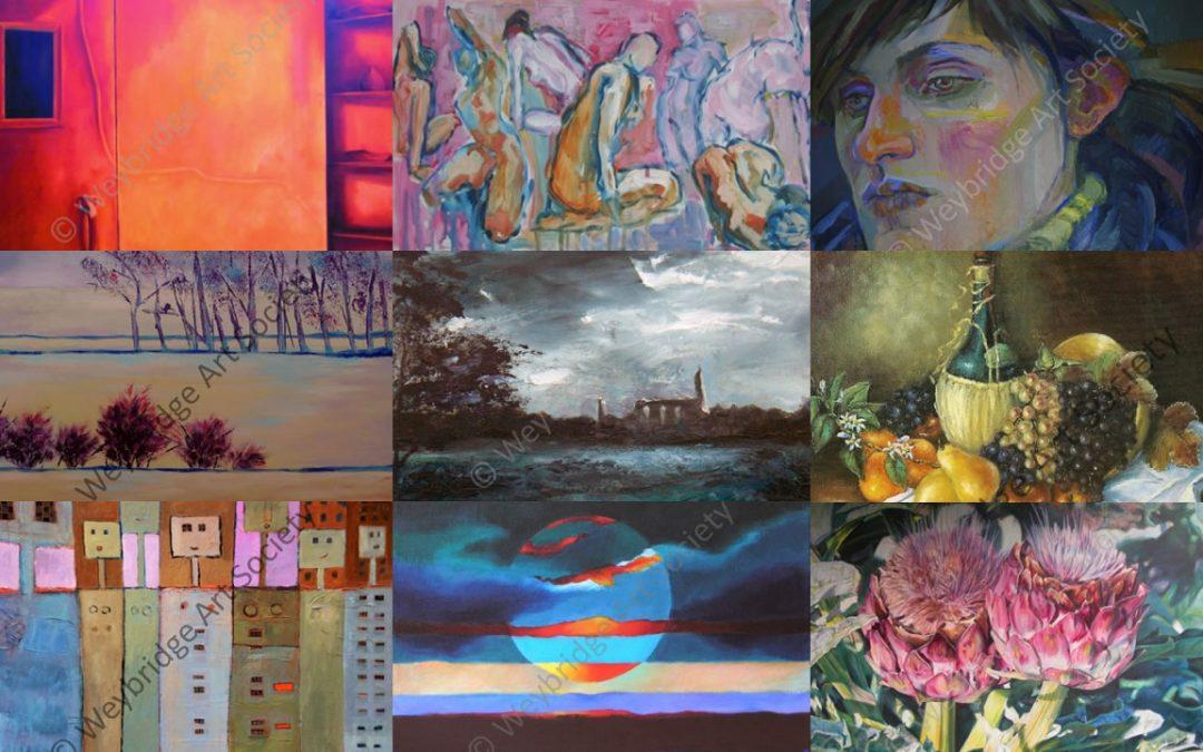 Weybridge Art Society Spring Exhibition in Weybridge Hall