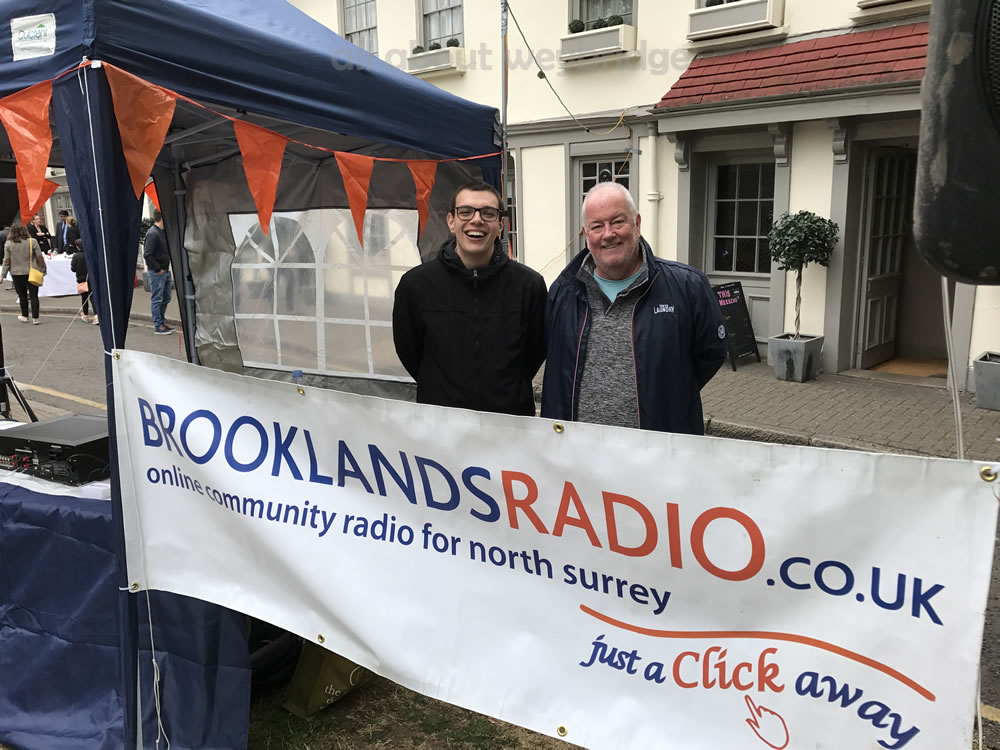 Brooklands Radio presenters at the Great Weybridge Cake Off Event