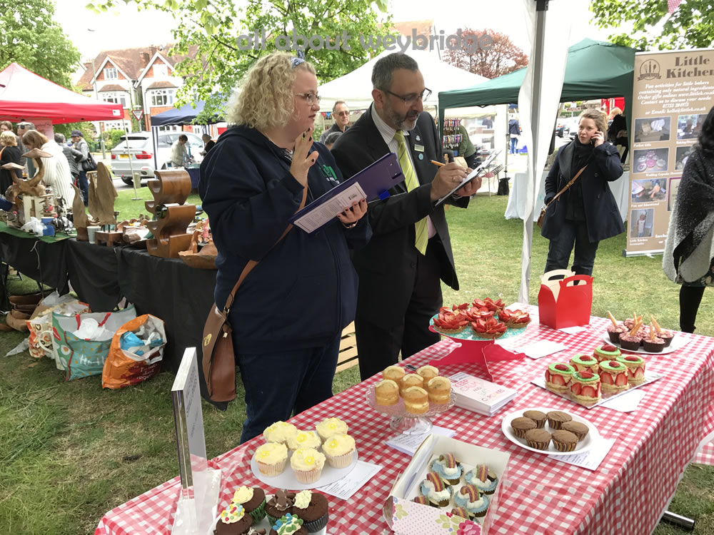 Womens Institute (WI) & Waitrose representatives judging the Great Weybridge Cake Off
