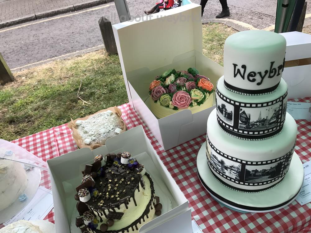 Great Weybridge Cake Off Photos - Celebration Cakes Table - Adult Competition