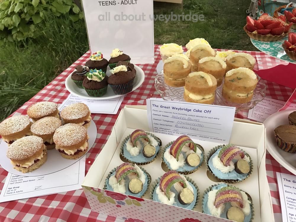 weybridge-cake-off-photos-1000-half-dozen-small-bakes-teenagers -Adult-table