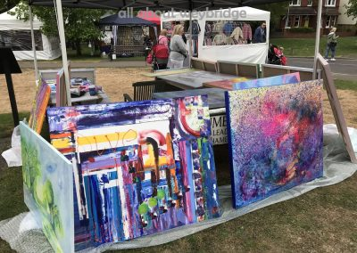 weybridge-cake-off-photos--craft-market-Leslie Blackthorne – Artist-paintings