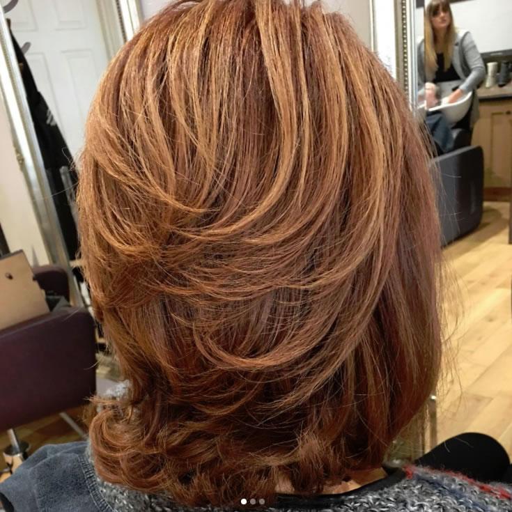 Blowdry Hair Style at Weybridge Salon Moroccan Oil Olaplex Wellacolor Nofilter