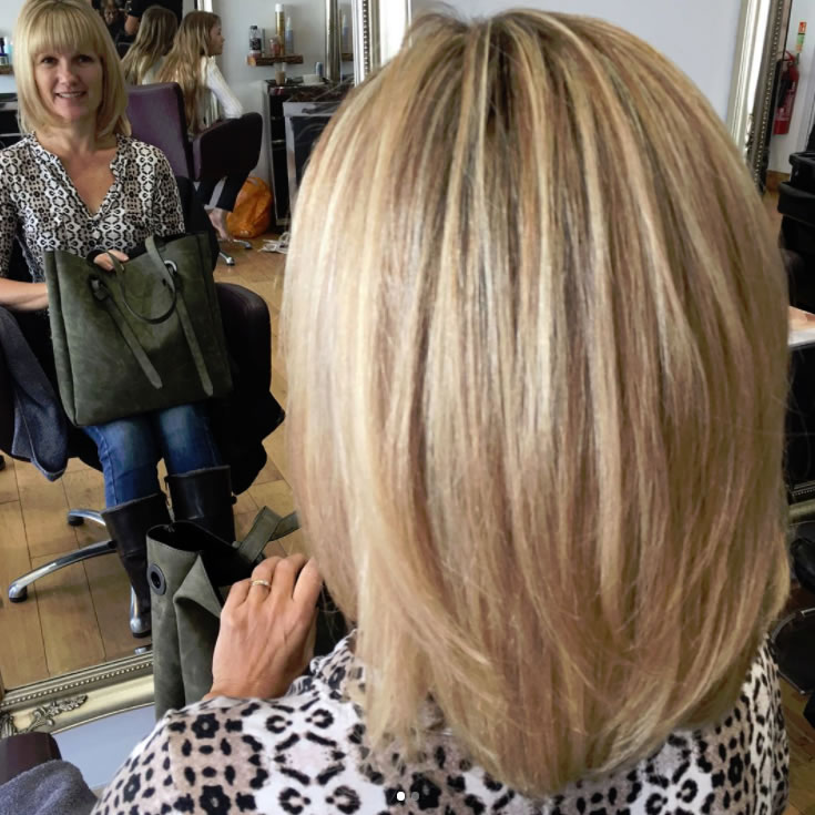 New Hair Stlye Created By Weybridge Salon Owner Lewis - Blonde Hair Highlights Olaplex Moroccan Oil Wellacolor No filter