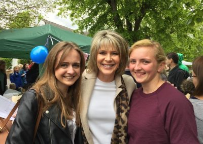 Rhian Hayward & Katie Stephenson with Ruth Langsford Monument Green Weybridge Elmbridge Surrey
