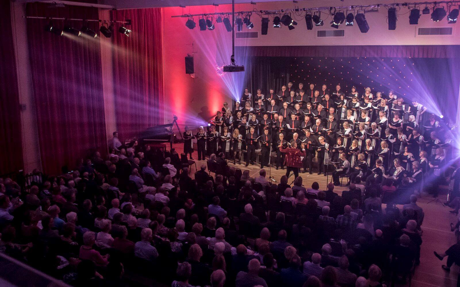 Elmbridge Mixed Choir Singing in Charity Concert at Addlestone Community Centre Runnymede