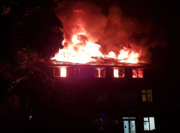 The Fire at Weybridge Health Centre and Hospital
