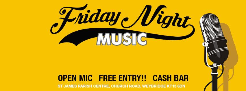 Music At St James' Weybridge – Shifty Little Sister & Open Mic Night