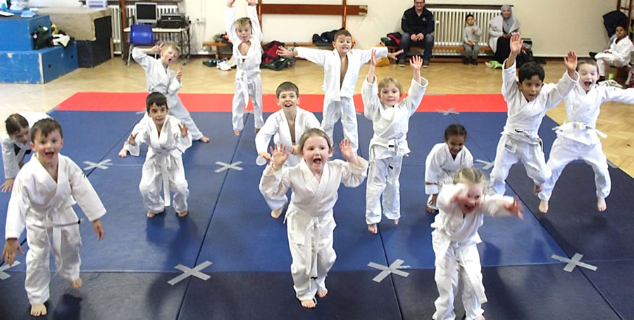 Fun Judo Lessons - Club For Children in Elmbridge at Walton on Thames Cobham Hinchley Wood and other Halls Schools and Sports Centres