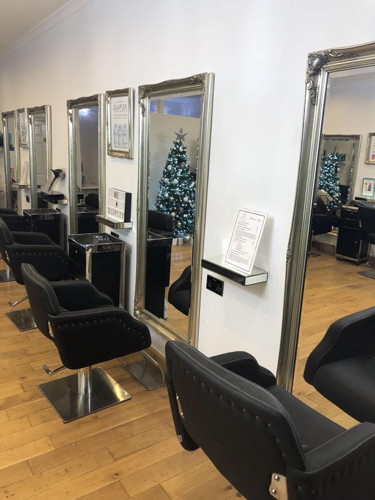 Garretts hair salon - shop interior - Church Street Weybridge