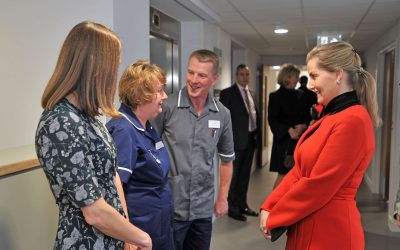 Sophie, HRH The Countess Of Wessex GCVO Opens The New Woking & Sam Beare Hospices Building