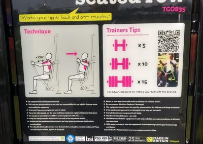 Seated Row - Exercise Tips for Cobham Outdoor Gym - Elmbridge Borough Council Recreation Ground