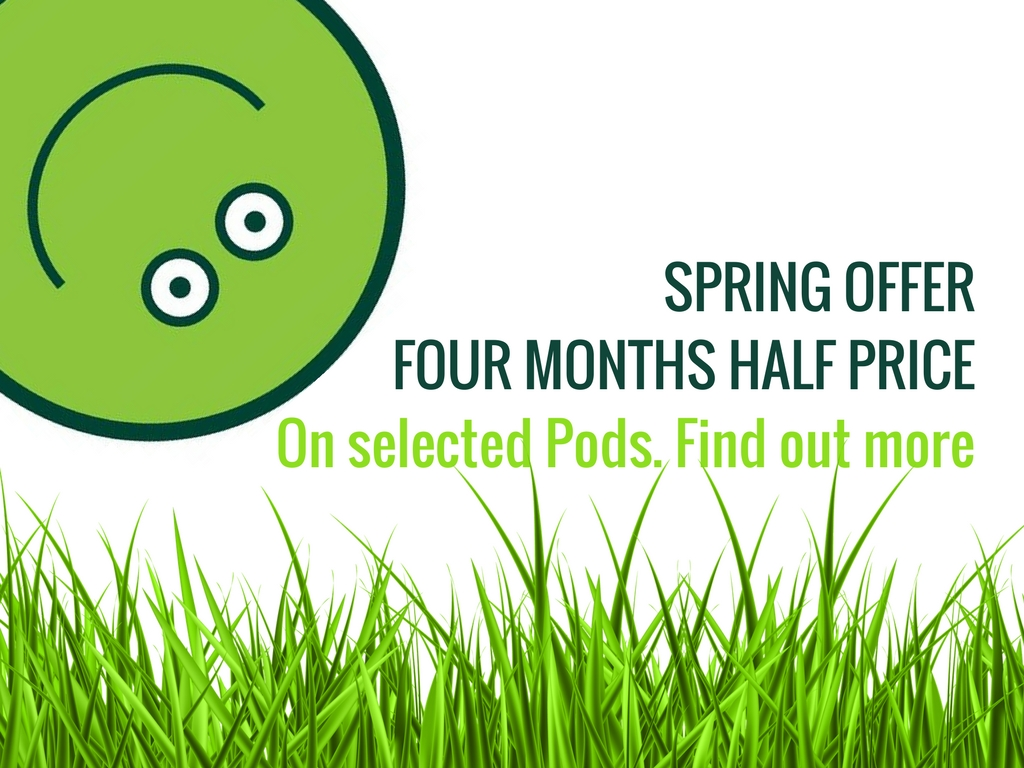 Spring Storage Offer - Brooklands Self Storage Pods in Weybridge