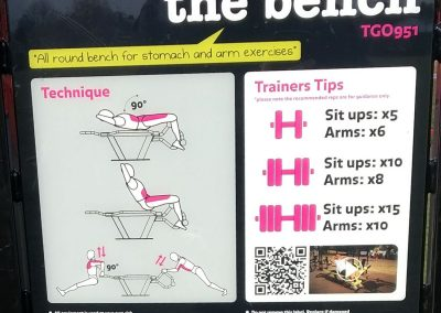 The Bench - Exercise Tips for Cobham Outdoor Gym - Elmbridge Borough Council Recreation Ground