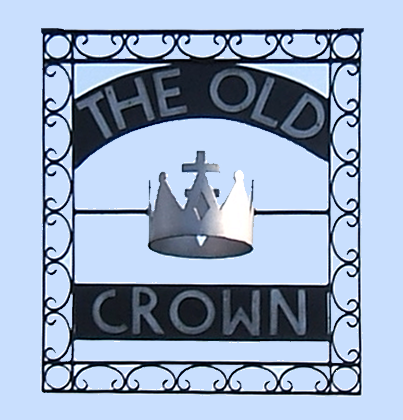 The Old Crown Riverside Pub on the River Thames at Weybridge near Walton on Thames Elmbridge