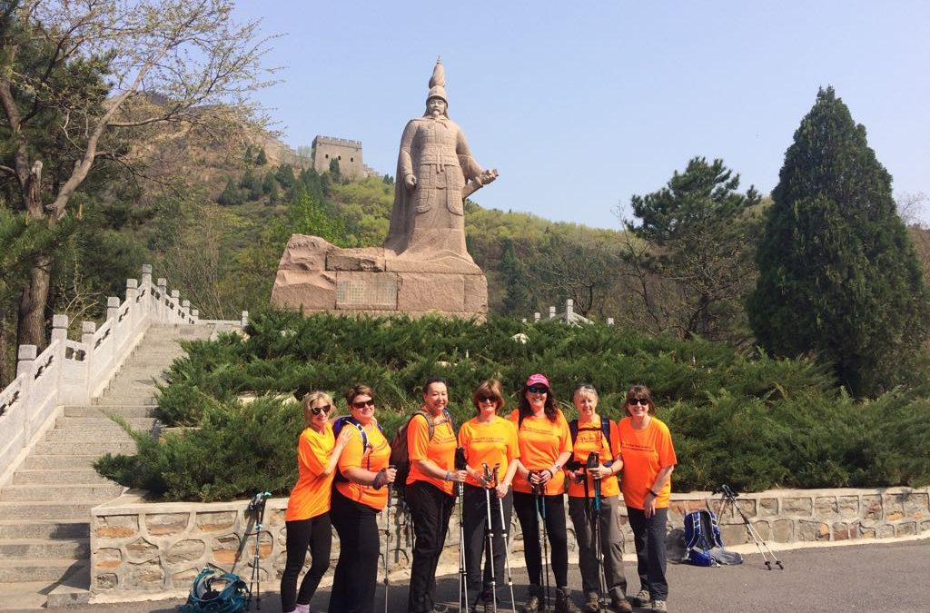 Great Wall of China Trek for Charity by Weybridge Town Business Group's Gill Eastwood