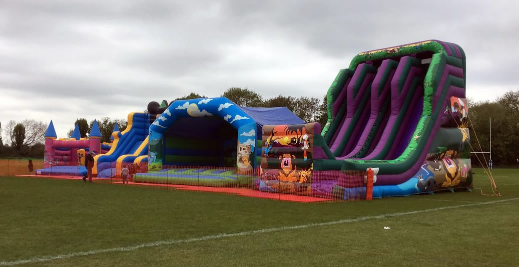 Large Bouncey Castle - fun for kids at Weybridge Vandals Beer Festival