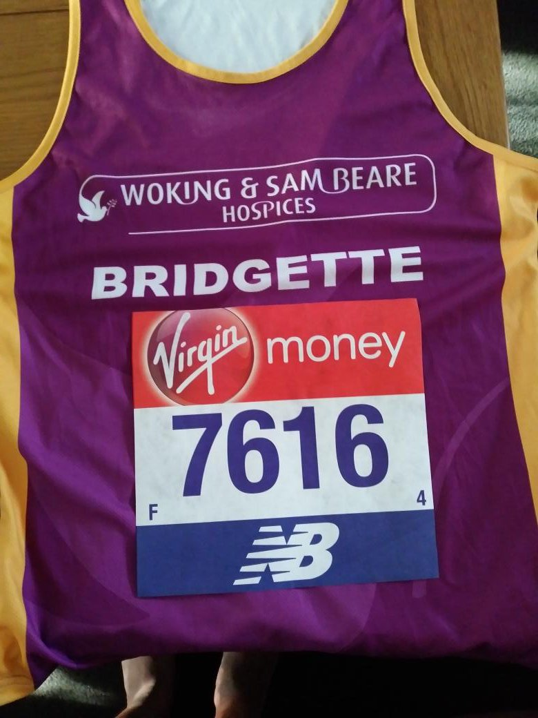Virgin London Marathon Runner for Woking and Sam Beare Hospices