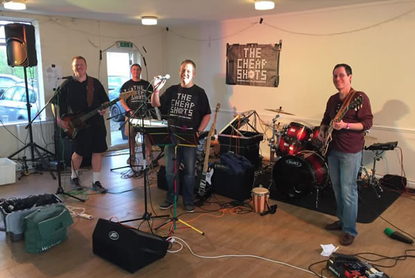 The Cheap Shots Band - Live Music at Weybridge Vandals Beer Festival Walton on Thames Surrey