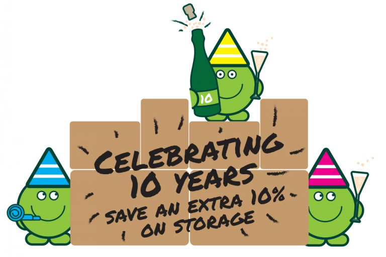 Pod Party! We're 10 years old and celebrating with an extra 10% off storage in May!