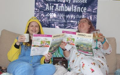 Congratulations to Lou & Dorrie from Weybridge WI For Completing 40 Sports Challenges for Kent, Surrey & Sussex Air Ambulance Trust