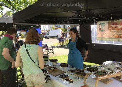 Aprils Table Stall at Artisan Market on Monument Green Weybridge