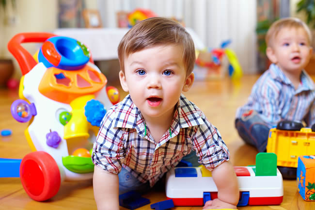 Toddlers Playing at Nursery or Play Group