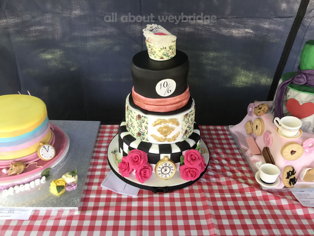 Celebration Cake Dont Be Late -- Mad Hatters Tea Party Theme - Great Weybridge Cake Off 2018