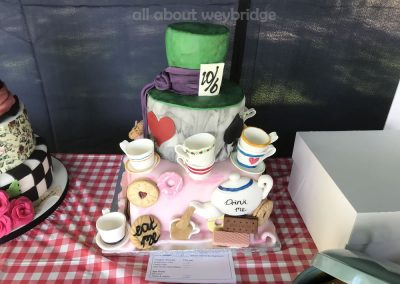Celebration Cake Entry -- Mad Hatters Tea Party Theme - Great Weybridge Cake Off 2018