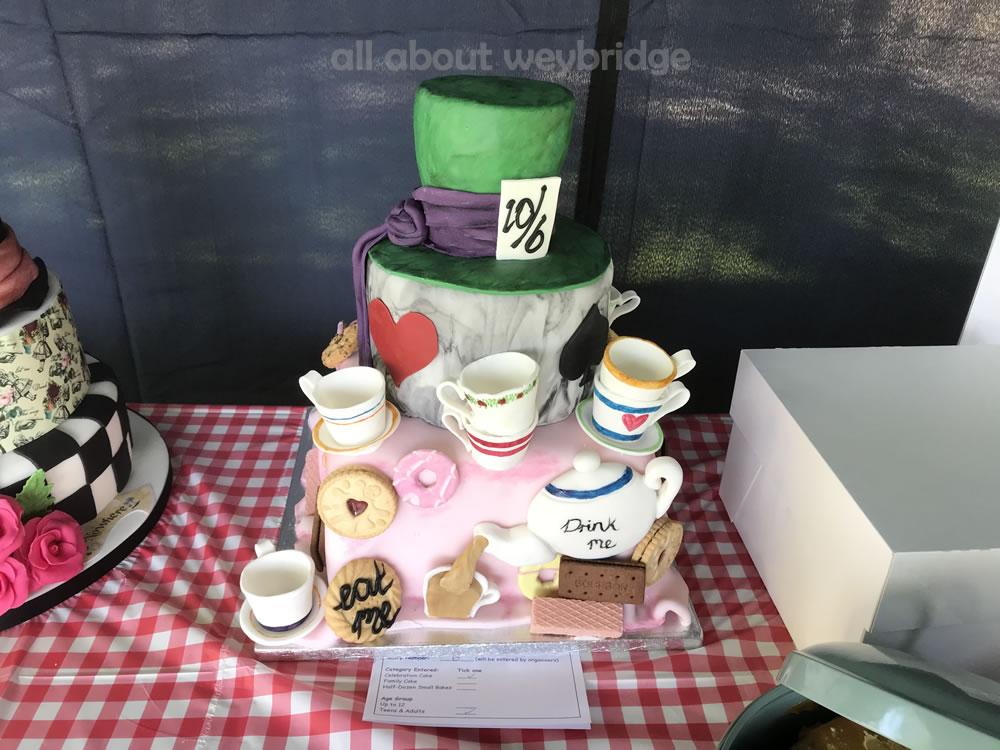 Celebration Cake Entry -- Mad Hatters Tea Party Theme - Great Weybridge Cake Off 2018
