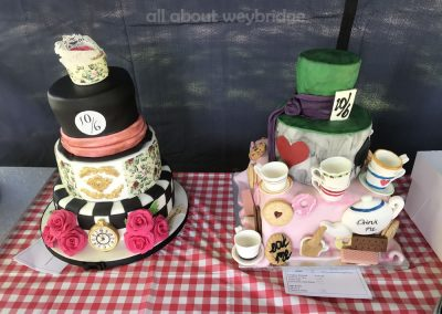Celebration Cakes Competition -- Mad Hatters Tea Party Theme - Great Weybridge Cake Off 2018