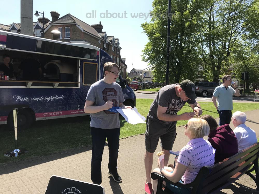 Stoked Eats Stall at Weybridge Green Artisan Market Elmbridge Surrey