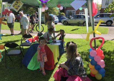 Face Painting and Balllon Modelling Fun at Weybridge Green Surrey Baking Competition