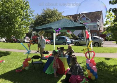 Face Painting and Bubbles Fun at Weybridge Surrey Baking Competition