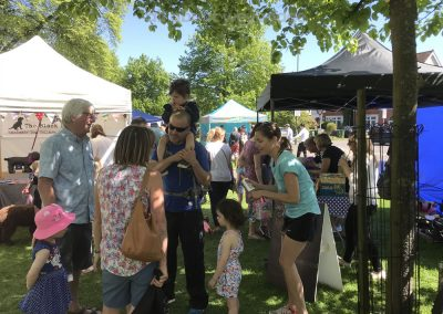 Families enjoy the Community Event in Weybridge