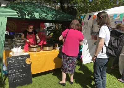 Flipping Amazing Crepes- Pancake Stall at Artisan Market on Monument Green Weybridge Surrey