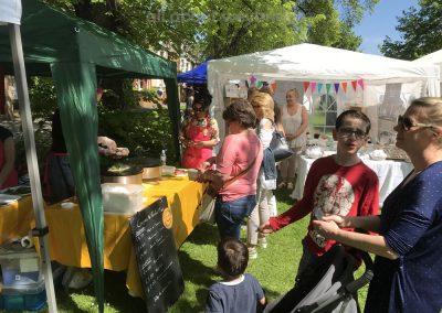 Food and Craft Stalls at Artisan Market Weybridge Surrey